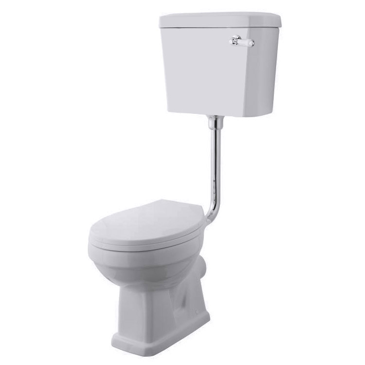 Carlton Low Level Bathroom Suite - Low level toilet with 2TH basin & full pedestal Feature Large Image