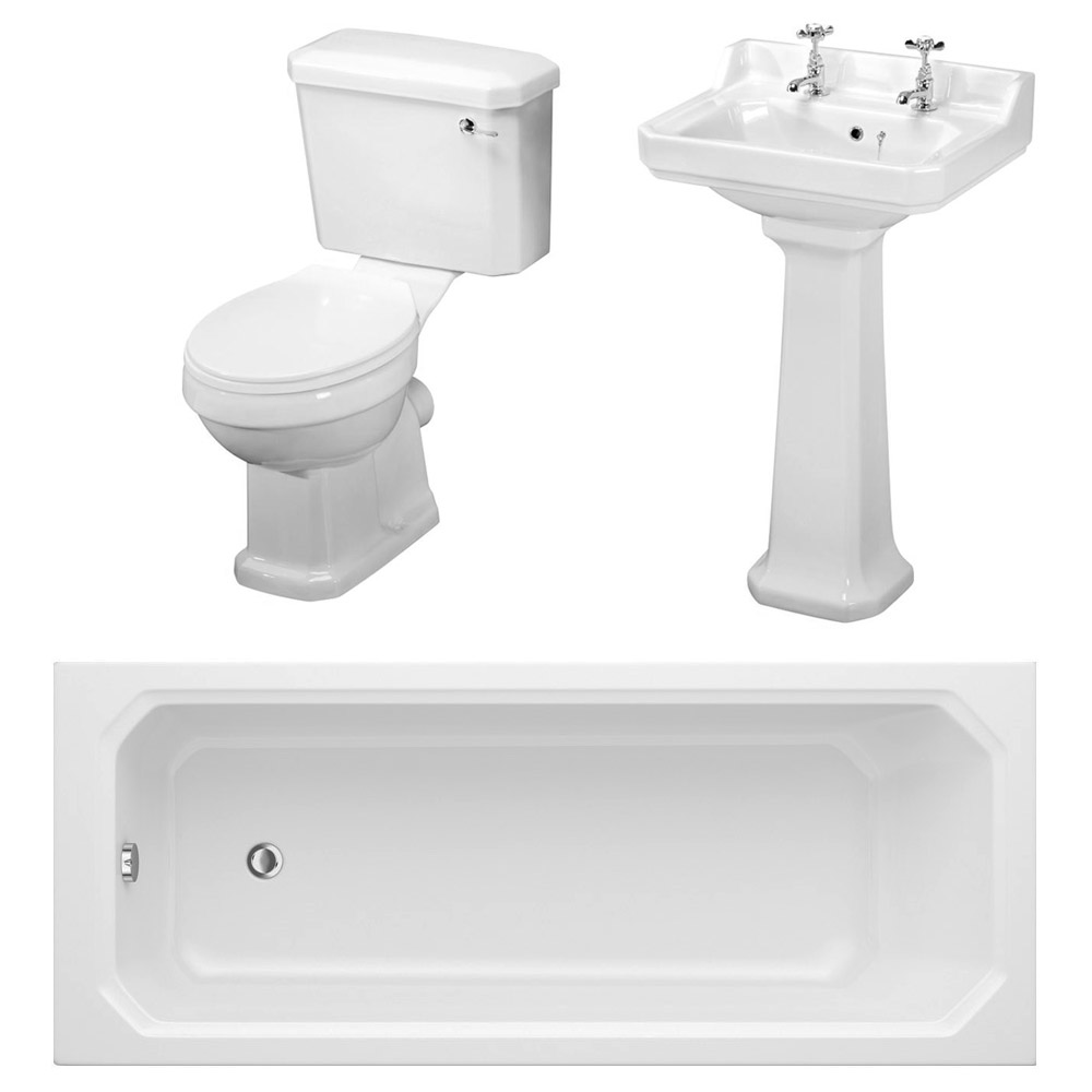 Carlton Traditional Bathroom Suite (1700 x 700mm) Large Image