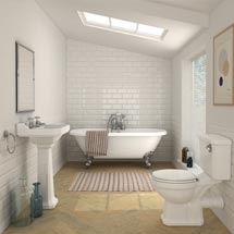 Carlton Traditional Double Ended Roll Top Bathroom Suite (1695mm) Medium Image