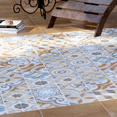 Carmona Porcelain Patterned Floor Tiles - 300 x 300mm