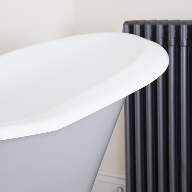 JIG Banburgh Large Cast Iron Roll Top Bath (1825x780mm) with Feet profile large image view 4