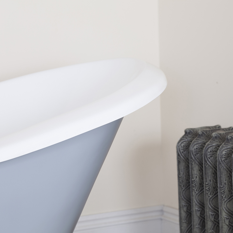 JIG Banburgh Small 2TH Cast Iron Roll Top Bath (1560x765mm) with Feet profile large image view 3
