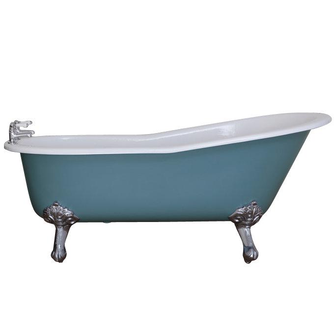 JIG Beaulieu Cast Iron Roll Top Slipper Bath (1720x740mm) with Feet profile large image view 1