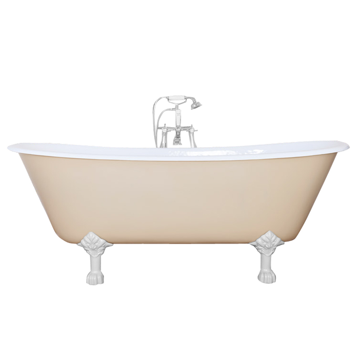 JIG Berwick Cast Iron Roll Top Bath (1720x680mm) with Feet Large Image