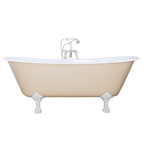 JIG Berwick Cast Iron Roll Top Bath (1720x680mm) with Feet