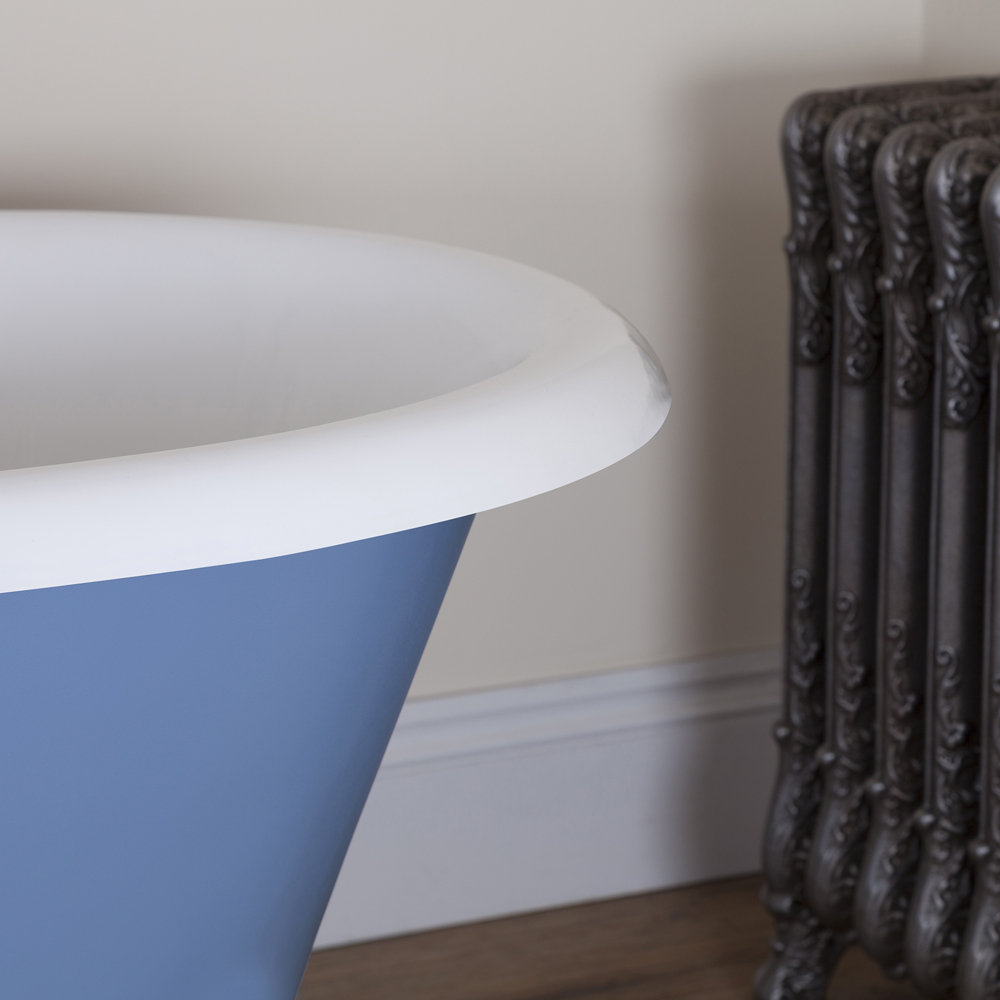 JIG Cartmel Cast Iron Roll Top Bath (1850x800mm) with White Feet profile large image view 3