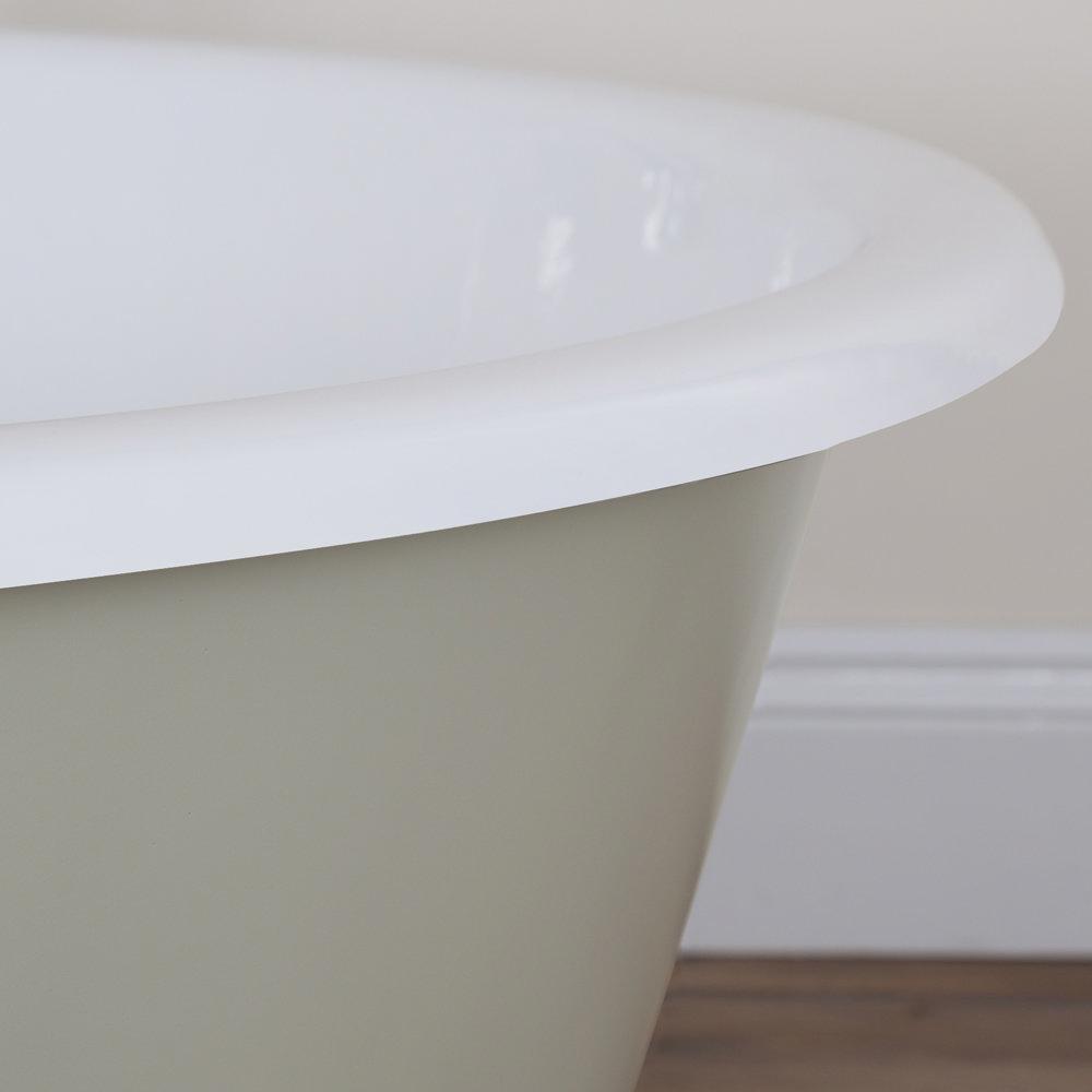 JIG Drum Round Cast Iron Bath (1325x520mm) - 13 Colour Options profile large image view 3