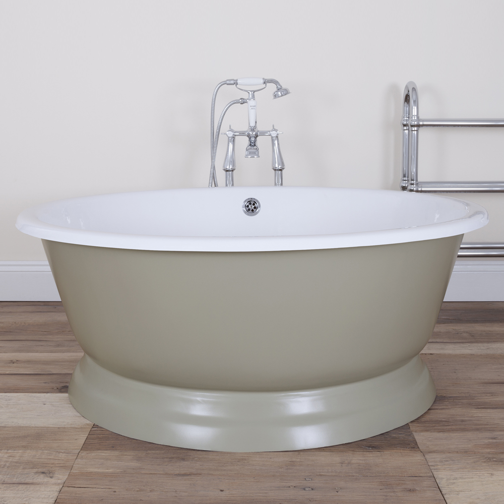 JIG Drum Round Cast Iron Bath (1325x520mm) - 13 Colour Options In Bathroom Large Image