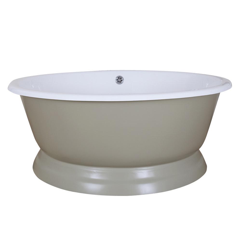 JIG Drum Round Cast Iron Bath (1325x520mm) - 13 Colour Options Large Image