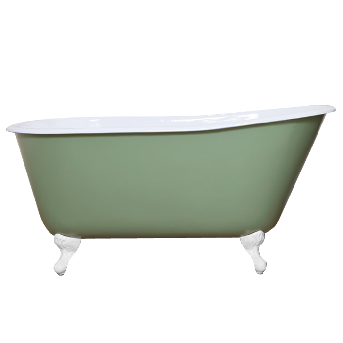 JIG Lille 0TH Cast Iron Roll Top Bath (1450x700mm) with Feet Large Image