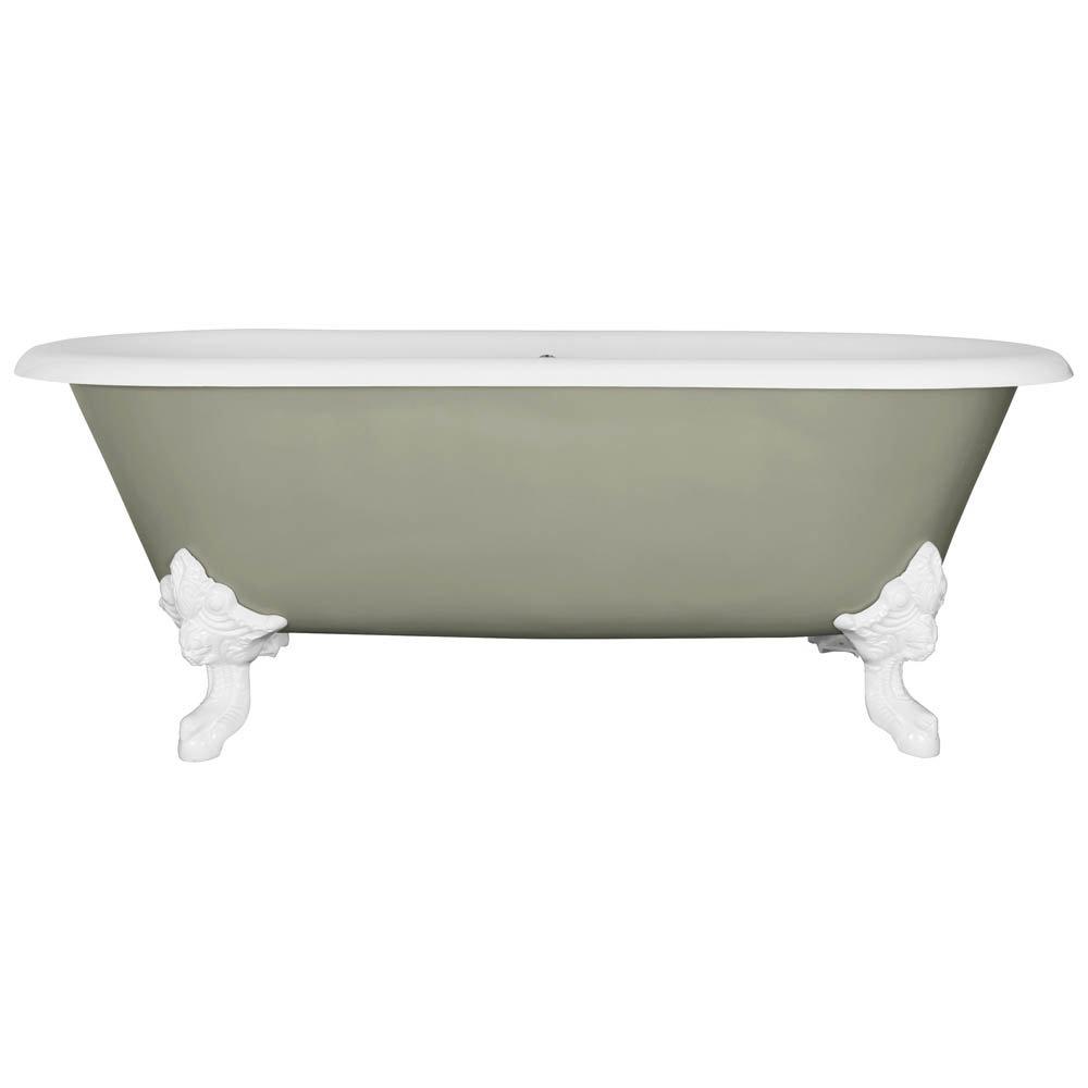 JIG Cartmel Cast Iron Roll Top Bath (1850x800mm) with White Feet