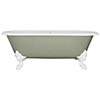 JIG Cartmel Cast Iron Roll Top Bath (1850x800mm) with White Feet profile small image view 1
