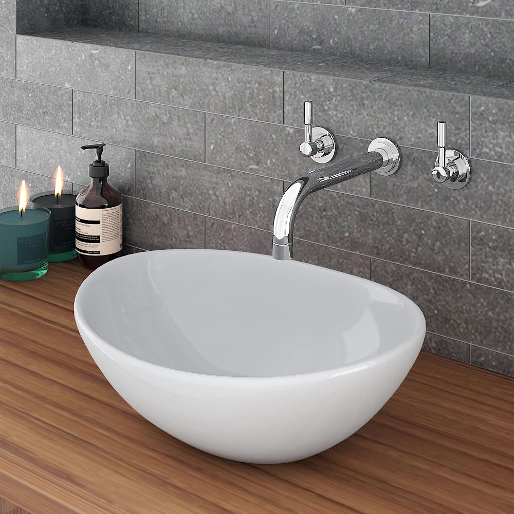 Casca Oval Counter Top Basin 0TH - 400 x 330mm Large Image
