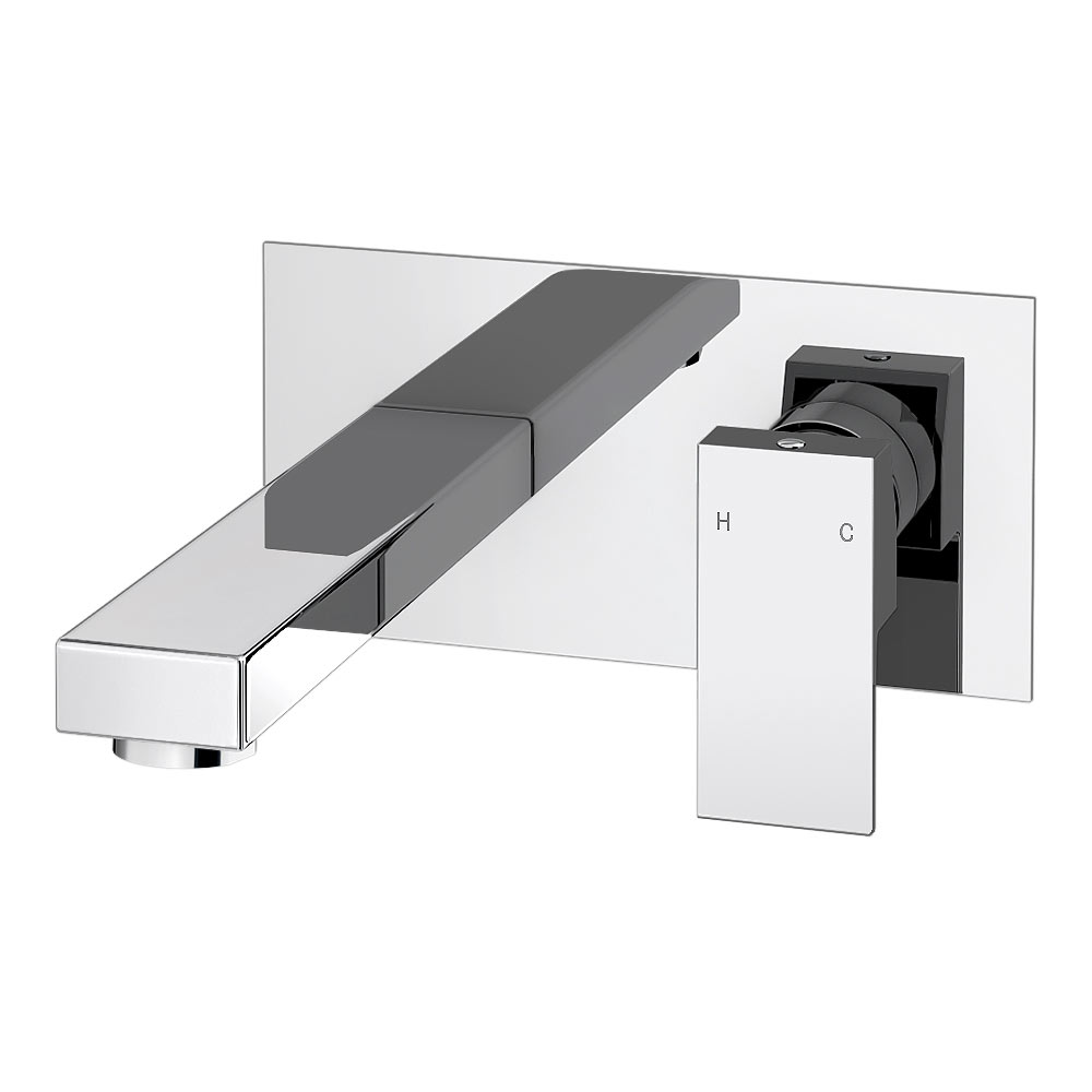 Cast Wall Mounted Basin Mixer Tap profile large image view 1