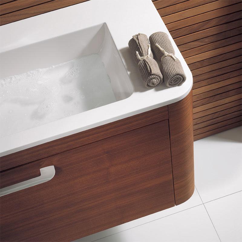 Bauhaus Celeste Vanity Unit with Basin - American Walnut Profile Large Image