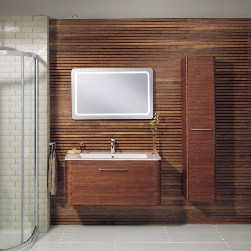 Bauhaus Celeste Vanity Unit with Basin - American Walnut Feature Large Image