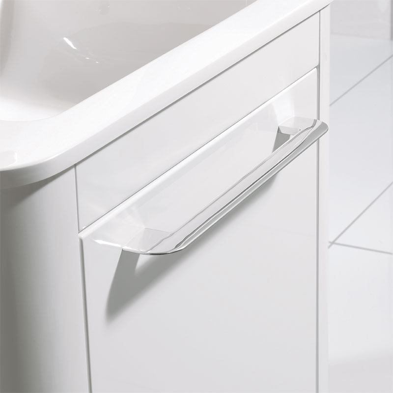 Bauhaus Celeste Vanity Unit with Basin - White Gloss profile large image view 2