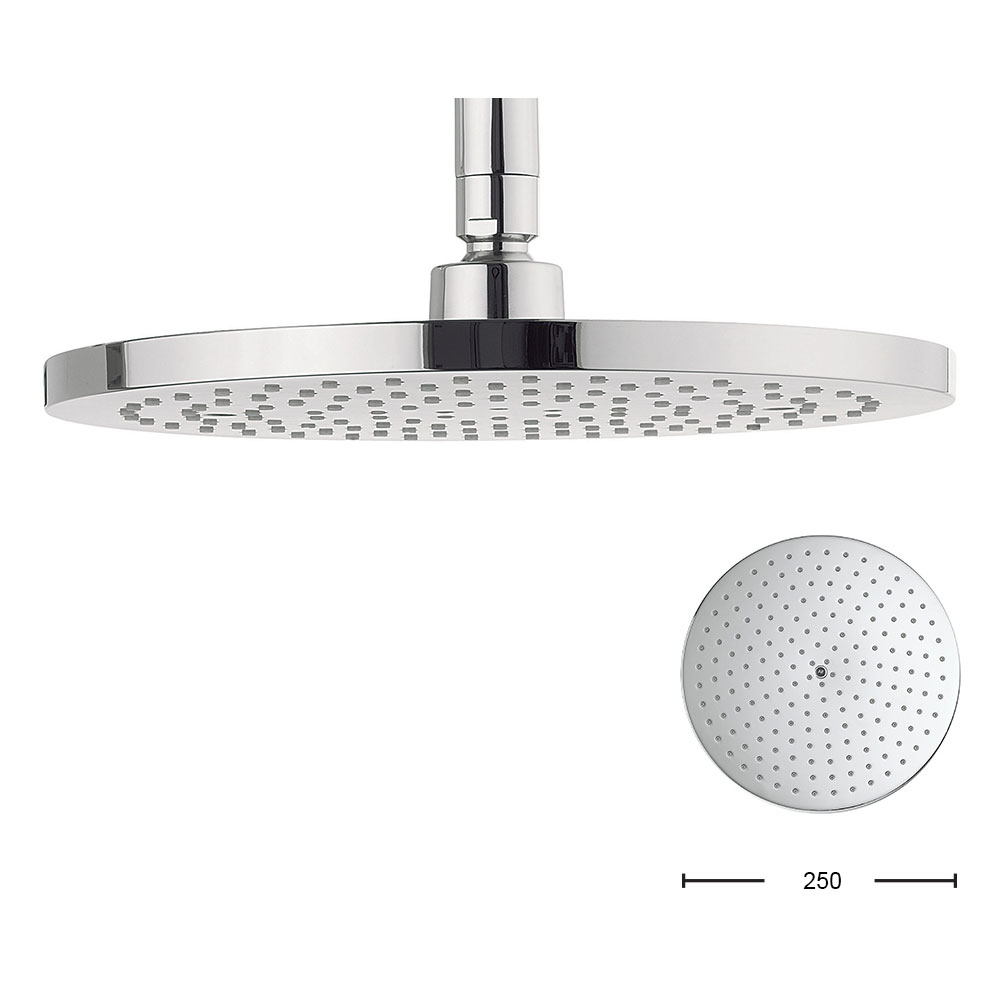 Crosswater Digital Brooklands Elite Slide Rail Shower Kit & Wall Mounted Fixed Round Showerhead profile large image view 7