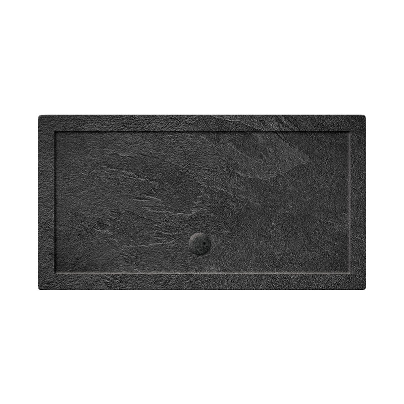 Simpsons Rectangular 35mm Grey Slate Acrylic Shower Tray with Waste - Various Size Options Large Image
