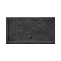 Simpsons Rectangular 35mm Grey Slate Acrylic Shower Tray with Waste - Various Size Options Medium Im