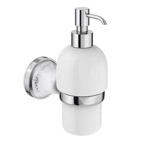Charlbury Traditional Ceramic Soap Dispenser - Chrome