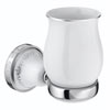 Charlbury Traditional Ceramic Tumbler & Holder - Chrome profile small image view 1