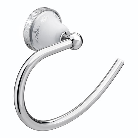 Charlbury Traditional Towel Ring - Chrome