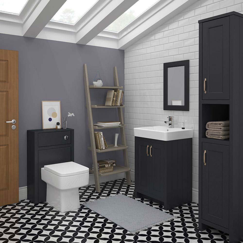 Chatsworth 3-Piece Traditional Graphite Bathroom Suite Large Image
