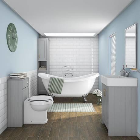 Chatsworth 3 piece traditional bathroom suite victorian for Bathroom 3 piece suite