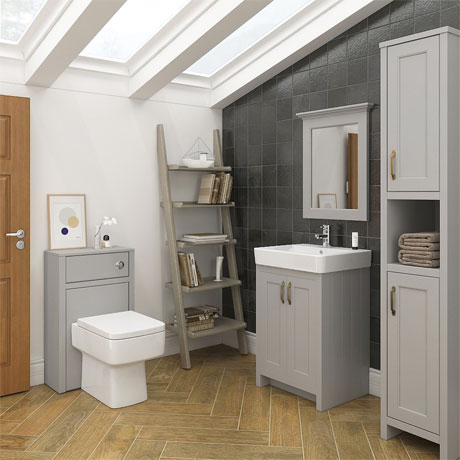 Chatsworth 3-Piece Traditional Grey Bathroom Suite