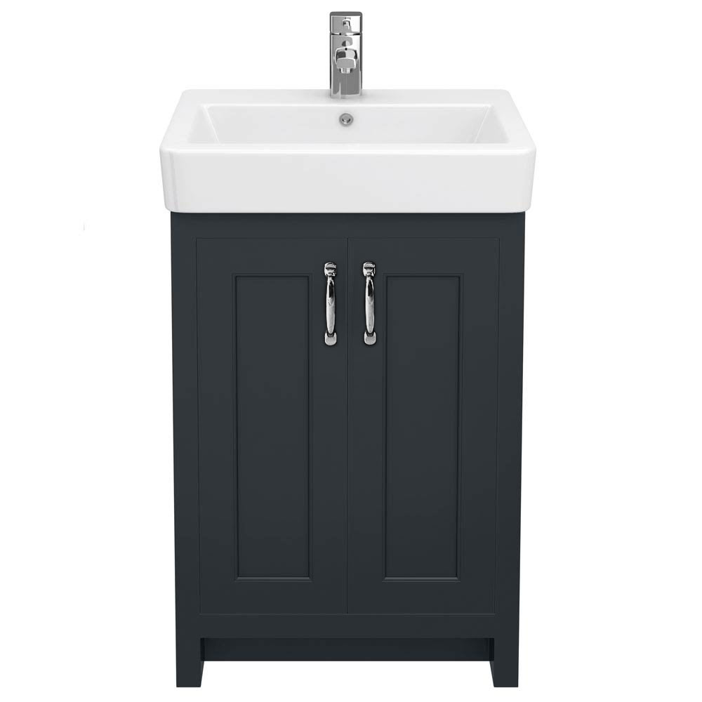Chatsworth Traditional Graphite Vanity - 560mm Wide profile large image view 3