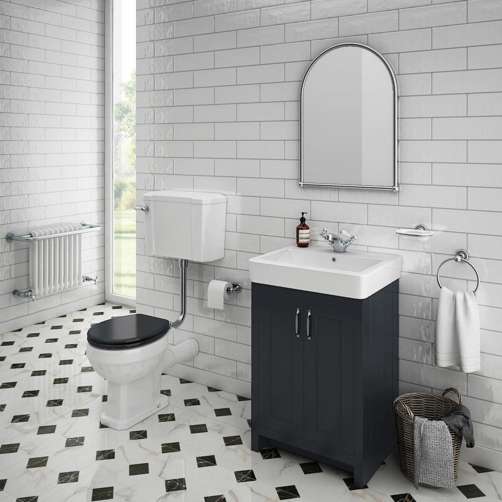 Chatsworth Graphite 4-Piece Low Level Bathroom Suite
