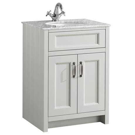 Chatsworth Grey 610mm Vanity with Marble Basin Top