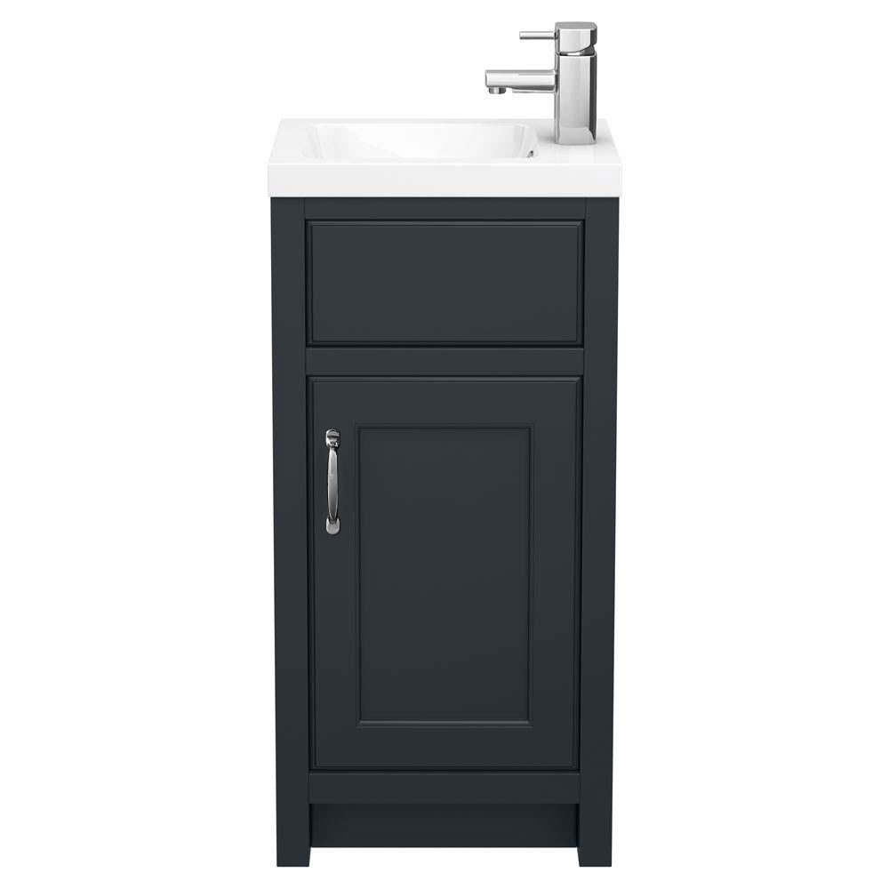 Chatsworth Traditional Graphite Small Vanity - 400mm Wide profile large image view 3