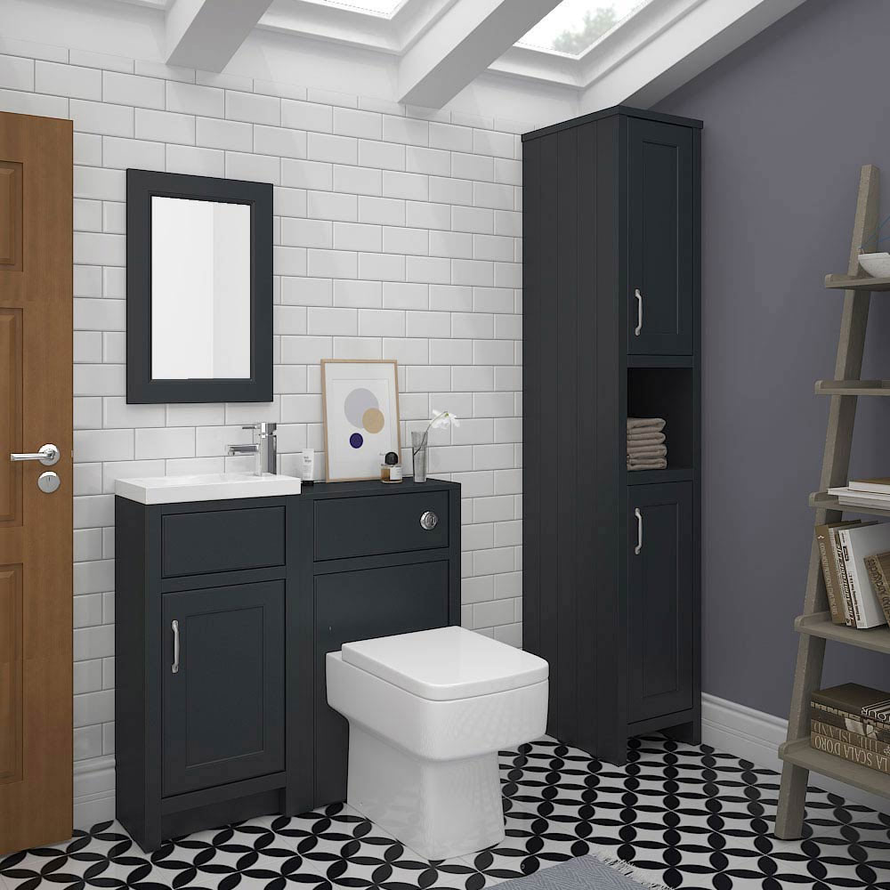 Chatsworth Traditional Graphite Small Vanity - 400mm Wide profile large image view 4
