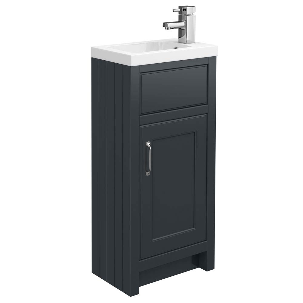 Chatsworth Traditional Graphite Small Vanity - 400mm Wide Large Image