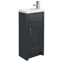 Chatsworth Traditional Graphite Small Vanity - 400mm Wide Medium Image