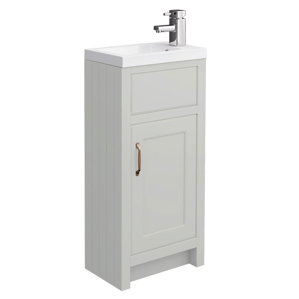 Chatsworth Traditional Grey Small Vanity - 400mm Wide Large Image
