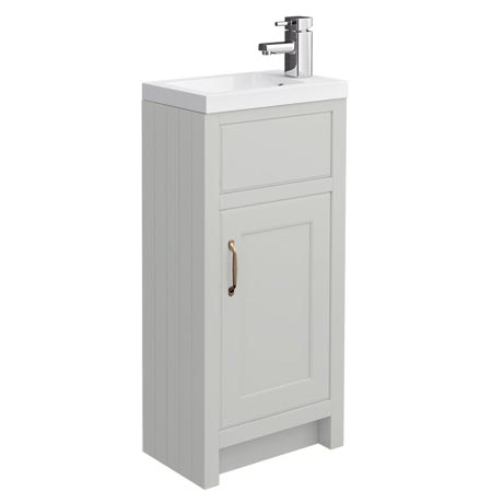 Chatsworth Traditional Grey Small Vanity - 400mm Wide