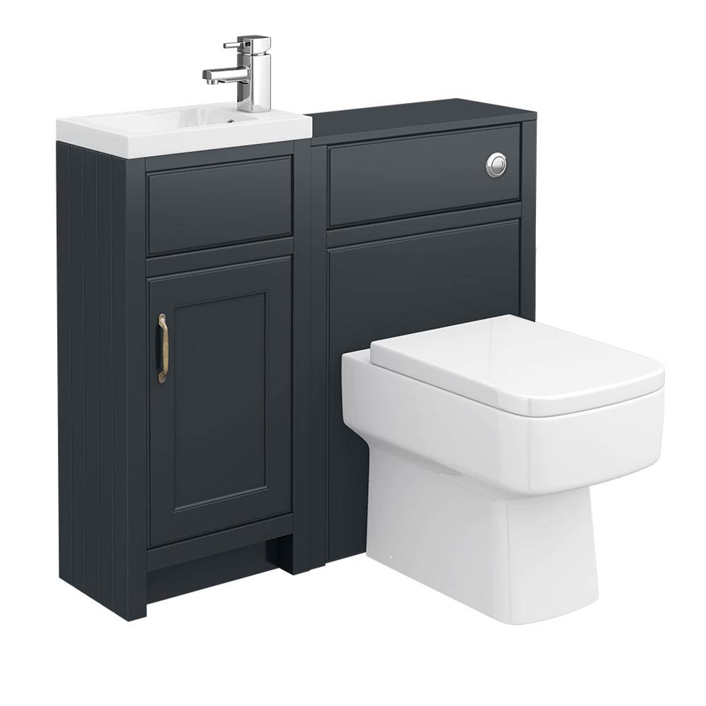 Chatsworth Traditional Graphite Cloakroom Suite Large Image