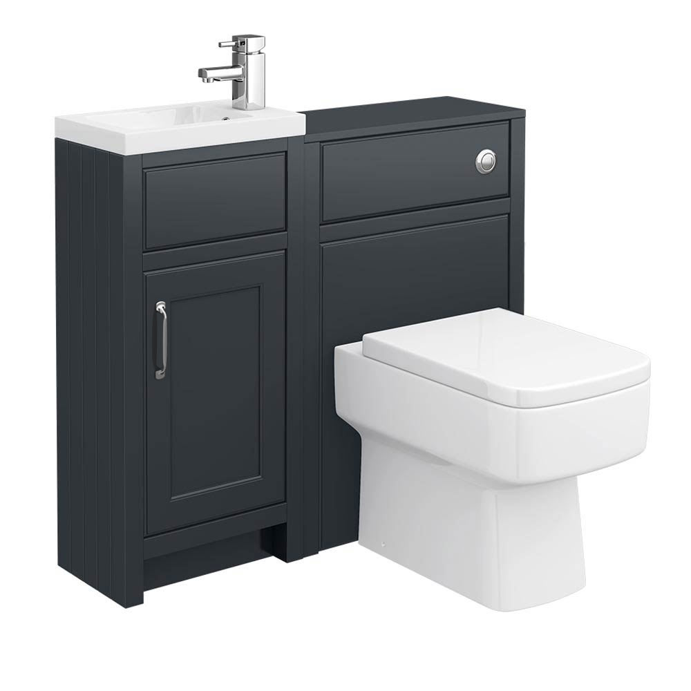 Chatsworth Traditional Graphite Cloakroom Suite profile large image view 1