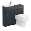 Chatsworth Traditional Graphite Cloakroom Suite Small Image