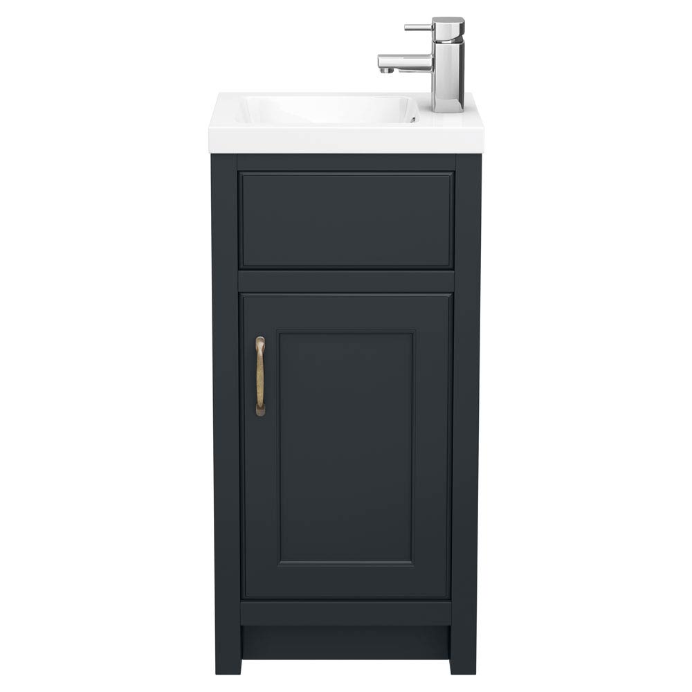 Chatsworth Traditional Graphite Small Vanity - 400mm Wide  Standard Large Image