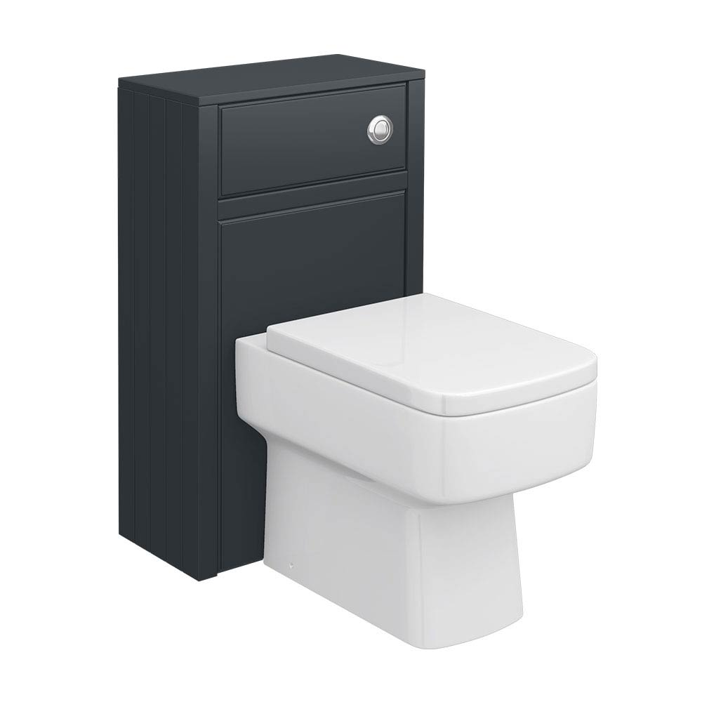 Chatsworth Traditional Graphite Toilet Unit - 500mm Wide Large Image