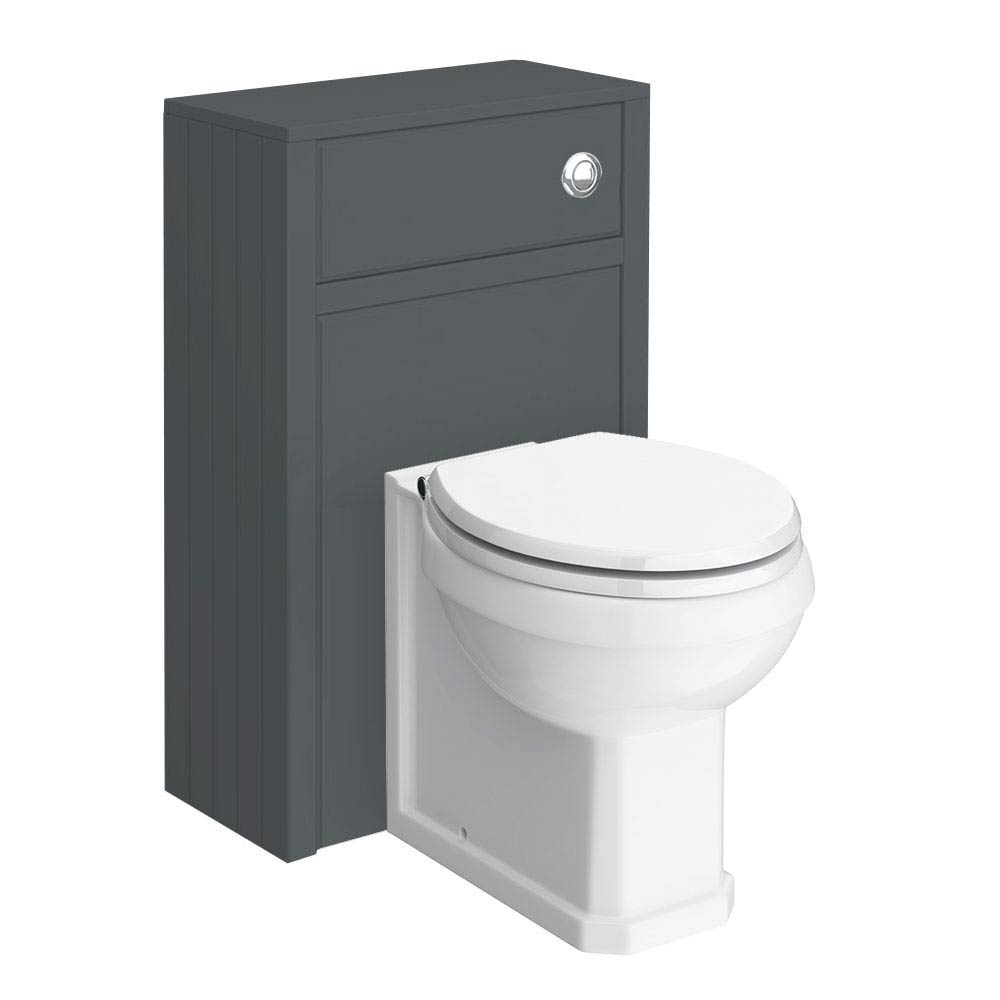 Chatsworth Traditional Graphite Toilet Unit + Pan Large Image