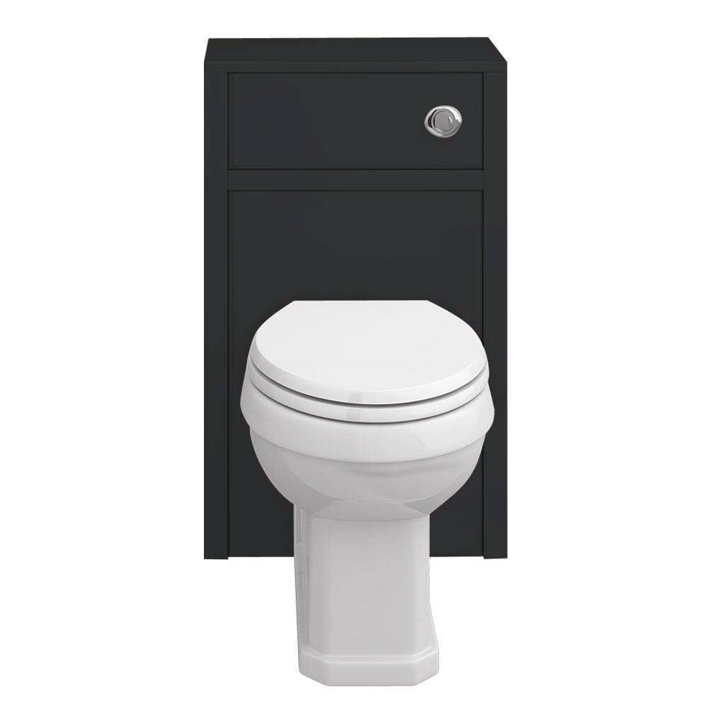 Chatsworth Traditional Graphite Toilet Unit + Pan profile large image view 3