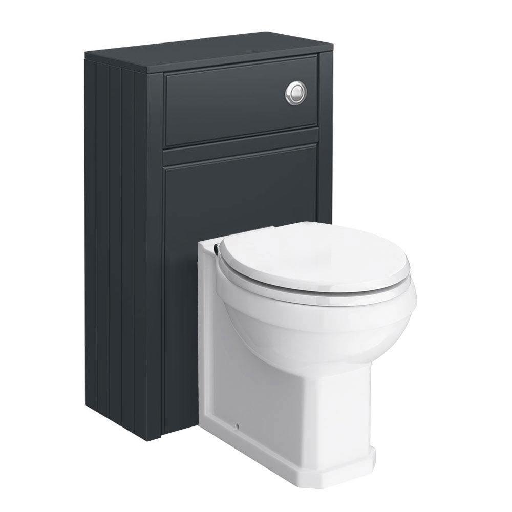 Chatsworth Traditional Graphite Toilet Unit + Pan Large Image