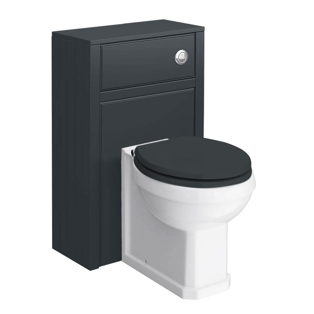 Chatsworth Traditional Graphite Toilet Unit + Pan profile large image view 1
