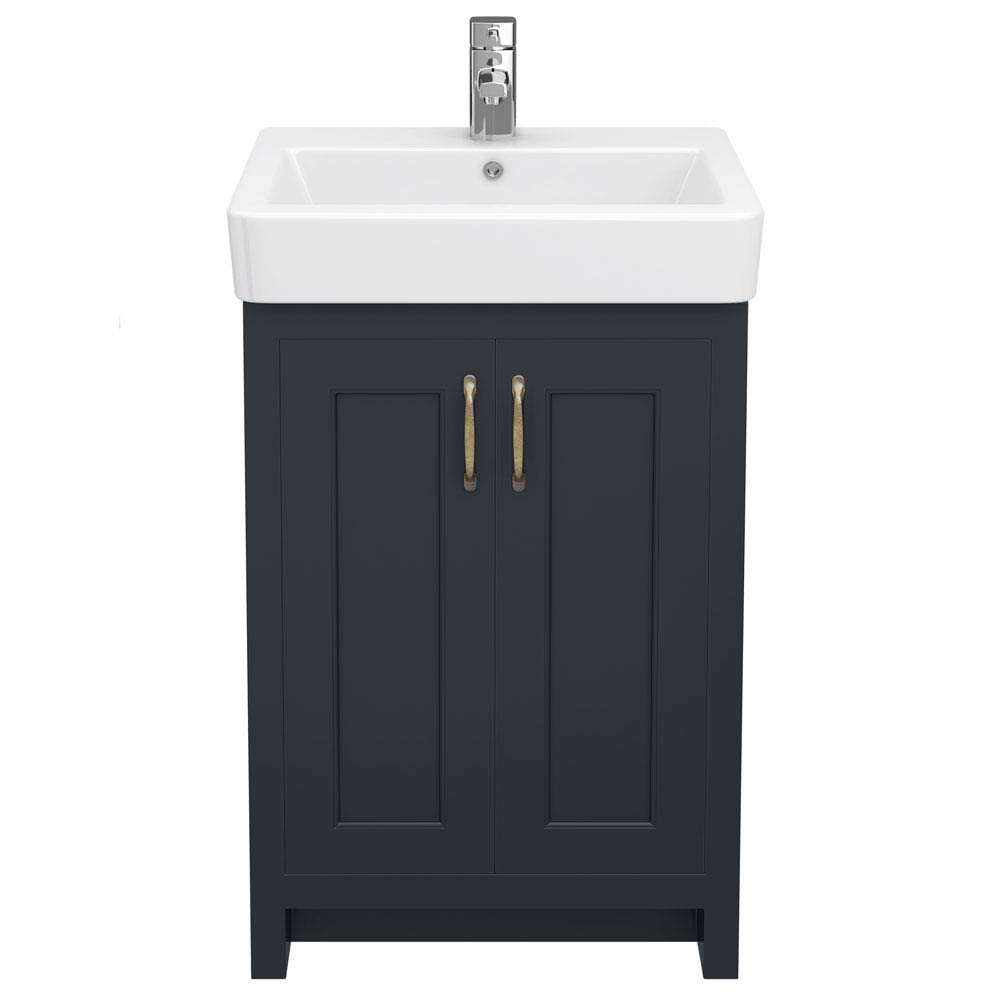 Chatsworth Traditional Graphite Vanity - 560mm Wide  Standard Large Image