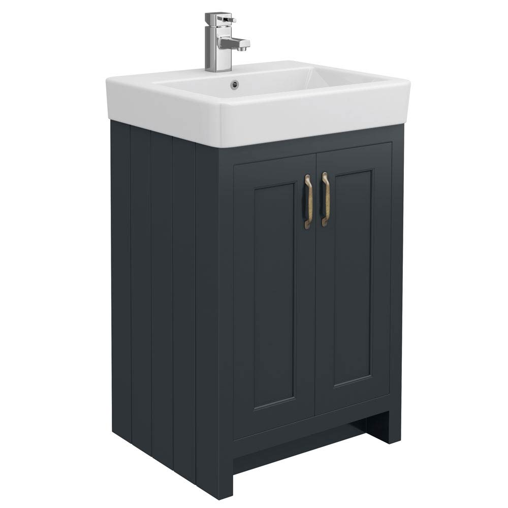 Chatsworth Traditional Graphite Vanity - 560mm Wide Large Image